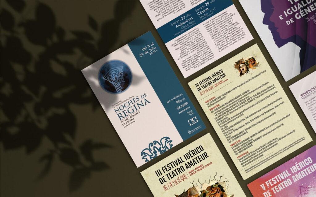 Varios flyers diseño gráfico