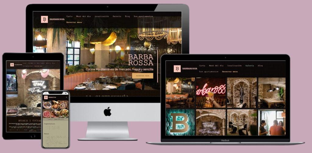 Página web Barbarossa restaurante